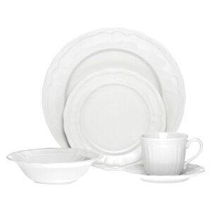 Noritake Baroque 20 Piece White Porcelain Dinner Set