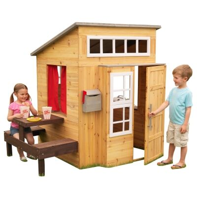 KidKraft Modern Wooden Outdoor Playhouse