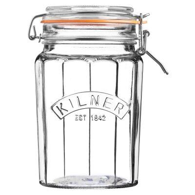 Kilner Facetted Clip Top Jar - 950ml