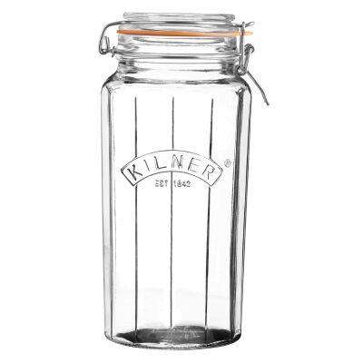 Kilner Facetted Clip Top Jar - 1.8 Litre