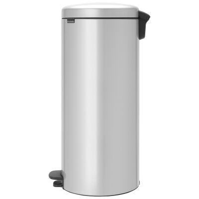 Brabantia NewIcon Pedal Waste Bin, 30 Litre, Metallic Grey