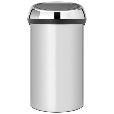 Brabantia Touch Bin Twin, 60L, Metalic Grey