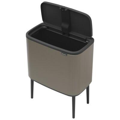 Brabantia BO Touch Waste Bin, 36 Litre, Platinum