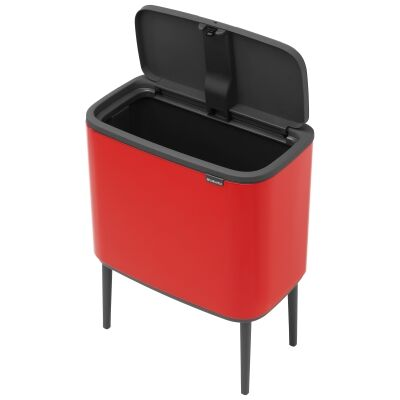 Brabantia BO Touch Waste Bin, 36L, Passion Red