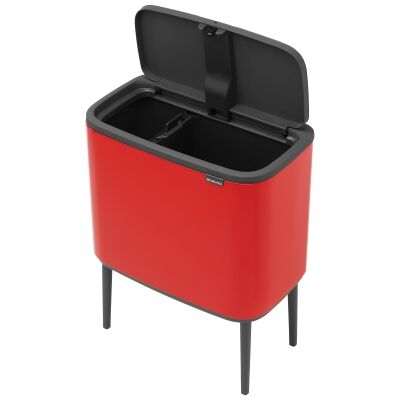 Brabantia BO Touch Waste Bin, 11/23L, Passion Red