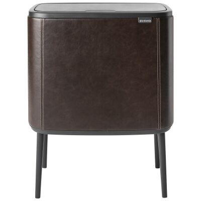 Brabantia BO Limited Edition Vegan Leather Touch Waste Bin, 11/23 Liter, Expresso
