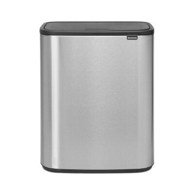 Brabantia BO Touch Waste Bin, 60 Litre, Matt Steel