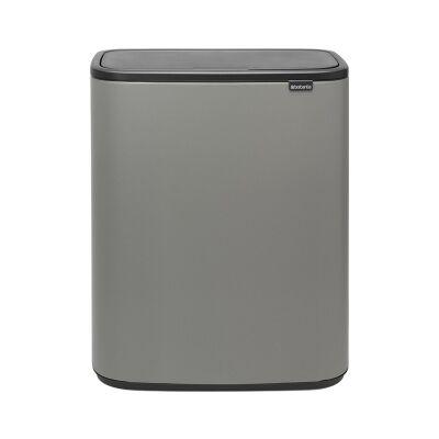 Brabantia BO Touch Waste Bin, 60 Litre, Mineral Concrete Grey