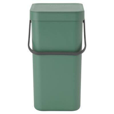 Brabantia Sort & Go Waste Bin, 12 Litre, Fir Green