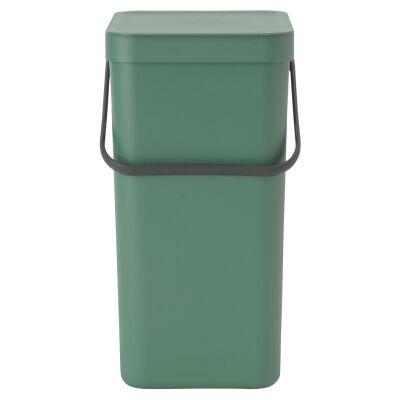 Brabantia Sort & Go Waste Bin, 16 Litre, Fir Green