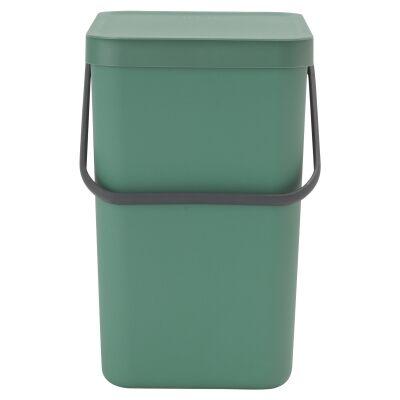 Brabantia Sort & Go Waste Bin, 25 Litre, Fir Green