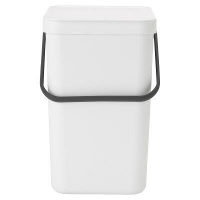 Brabantia Sort & Go Waste Bin, 25 Litre, White