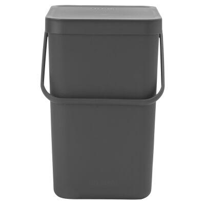 Brabantia Sort & Go Waste Bin, 25 Litre, Grey