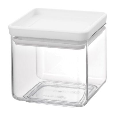 Brabantia Stackable Square Canister, Light Grey Lid, 700ml