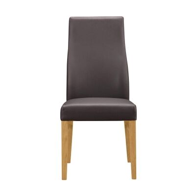 Tyrion Leather Dining Chair, Brown / Wheat