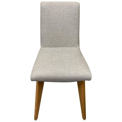 Royce Fabric Dining Chair, Taupe / Natural