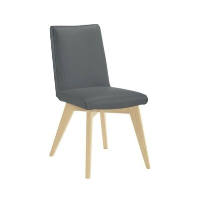 Chelsea Leather Dining Chair, Grey / Natural
