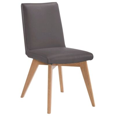 Chelsea Leather Dining Chair, Mocha / Natural