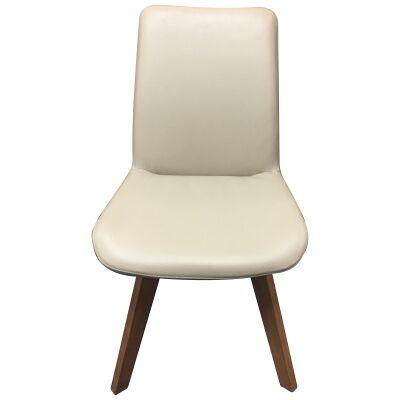 Soho Swivel Leather Dining Chair, Light Mocha / Natural