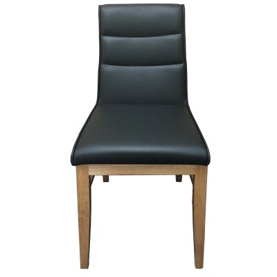 DalmarLeather Dining Chair, Black / Natural