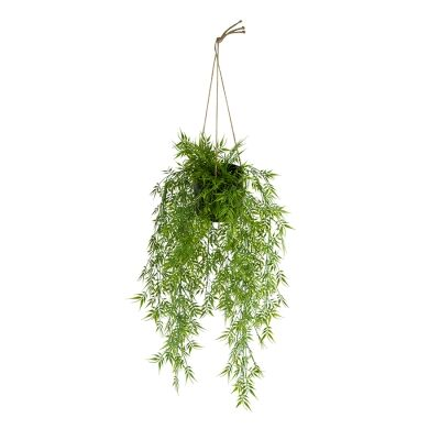 Hanging Potted Artificial Willow, 105cm