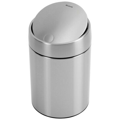 Brabantia Slide Waste Bin, 5L, Matt Steel