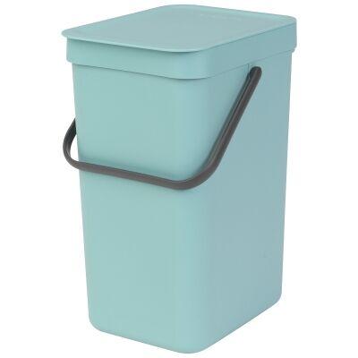 Brabantia Sort & Go Waste Bin, 12 Litre, Mint