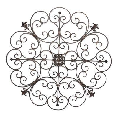 Circolo Fleur Round Metal Wire Wall Art, 93cm