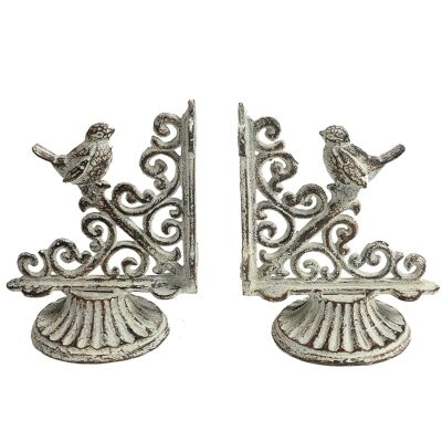 Oullins 2 Piece Metal French Bookend Set