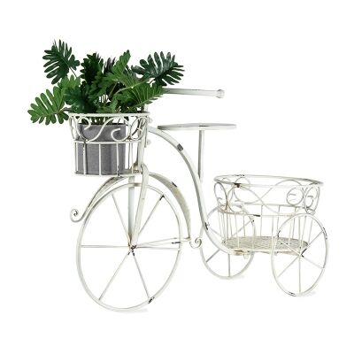 Martinique Metal Bicycle Planter Holder