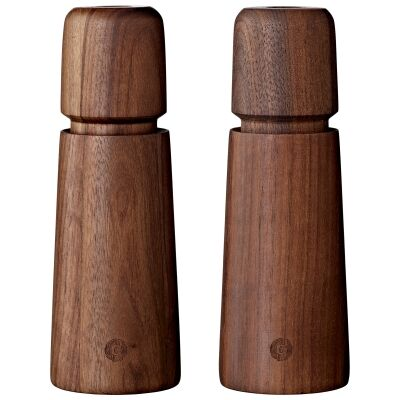 Stockholm 2 Piece Wooden Salt & Pepper Mill Set, Walnut