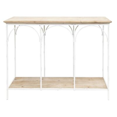 Fiore Wood & Metal French Console Table, 110cm