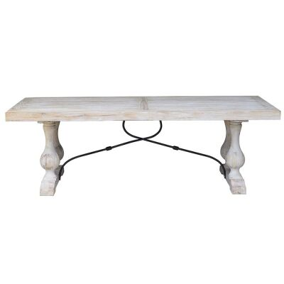 Madrid Reclaimed Elm Timber Dining Table, 240cm