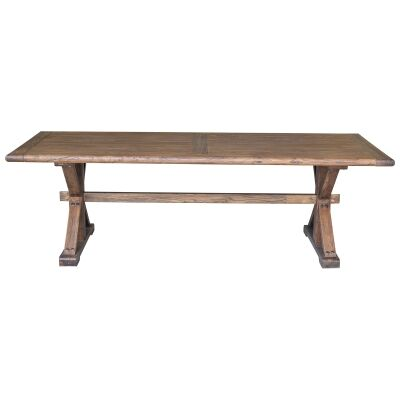 Bordeaux Reclaimed Elm Timber Dining Table, 250cm