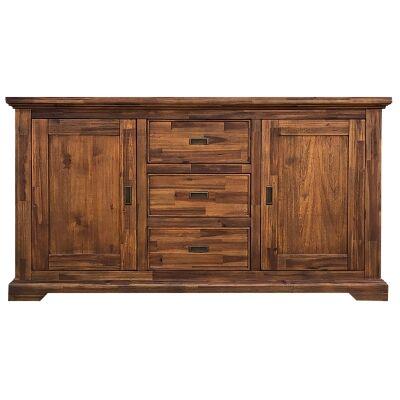 Fratti Acacia Timber 2 Door 3 Drawer Buffet Table, 165cm