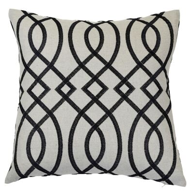 Bianca Linen Scatter Cushion Cover, Black