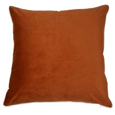 Rodeo Velvet Euro Cushion Cover, Orange