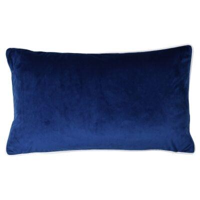 Rodeo Velvet Lumbar Cushion Cover, Navy