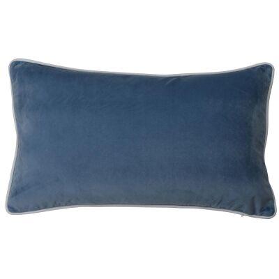 Rodeo Velvet Lumbar Cushion Cover, Ocean