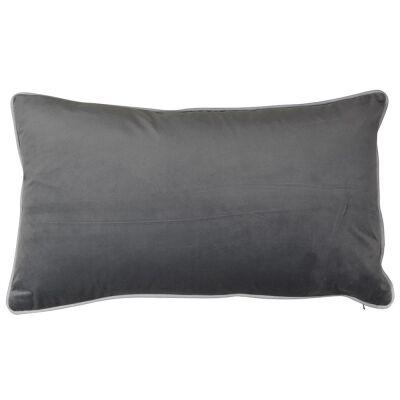 Rodeo Velvet Lumbar Cushion Cover, Silver