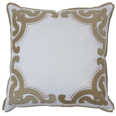 Bronte Velvet & Cotton Scatter Cushion Cover, Sand