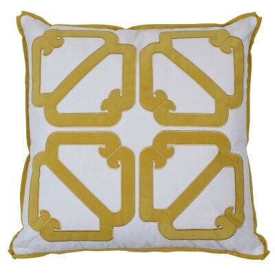 Manly Velvet & Cotton Scatter Cushion Cover, Gold