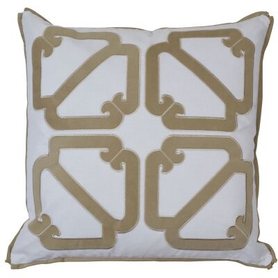Manly Velvet & Cotton Scatter Cushion Cover, Sand