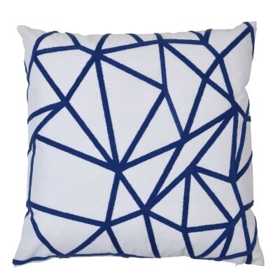 Waverley Cotton Scatter Cushion Cover, Navy