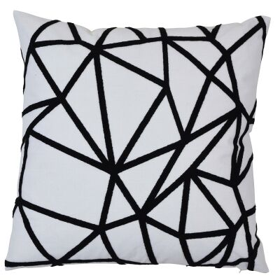 Waverley Cotton Scatter Cushion Cover, Black