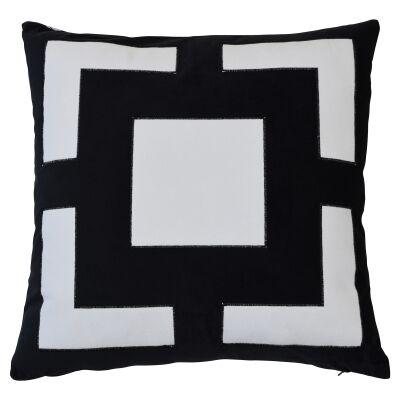 Cremorne Velvet Scatter Cushion Cover, Black