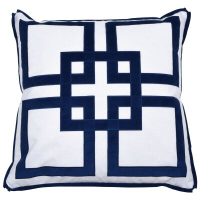Kirribilli Velvet & Cotton Scatter Cushion Cover, Navy
