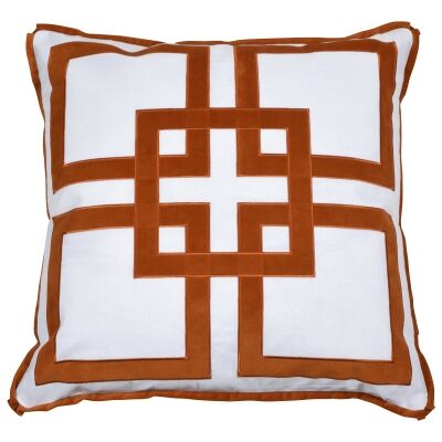 Kirribilli Velvet & Cotton Scatter Cushion Cover, Rust