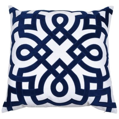 Byron Velvet & Cotton Scatter Cushion Cover, Navy