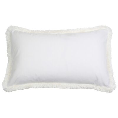 St. Kilda Velvet Lumbar Cushion Cover, White